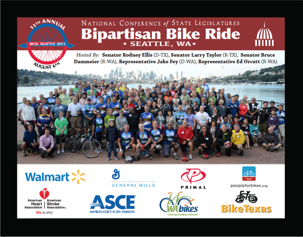 National Conference of State Legislatures (NCSL) Bipartisan Bike Rides