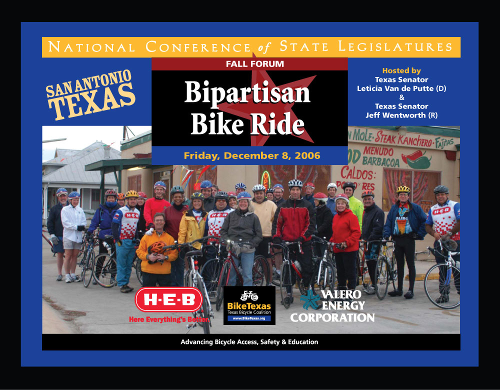 NCSL Bipartisan Bike Ride - San Antonio