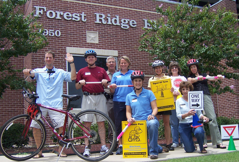 SuperCyclist Works with Brazos Injury Prevention Coalition