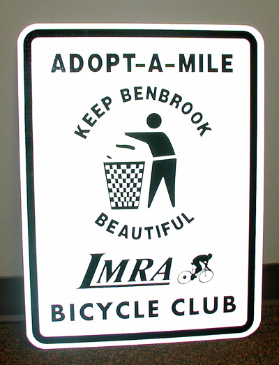 LMRA Bicycle Club's Adopted Mile Gets Cleaned