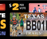 Vote For Your Favorite Texas Trails License Plate Design