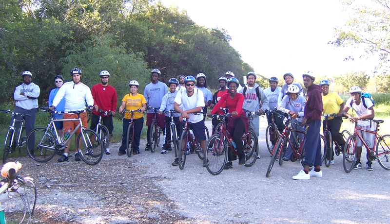 University Students Learn Bicycle Safety Skills