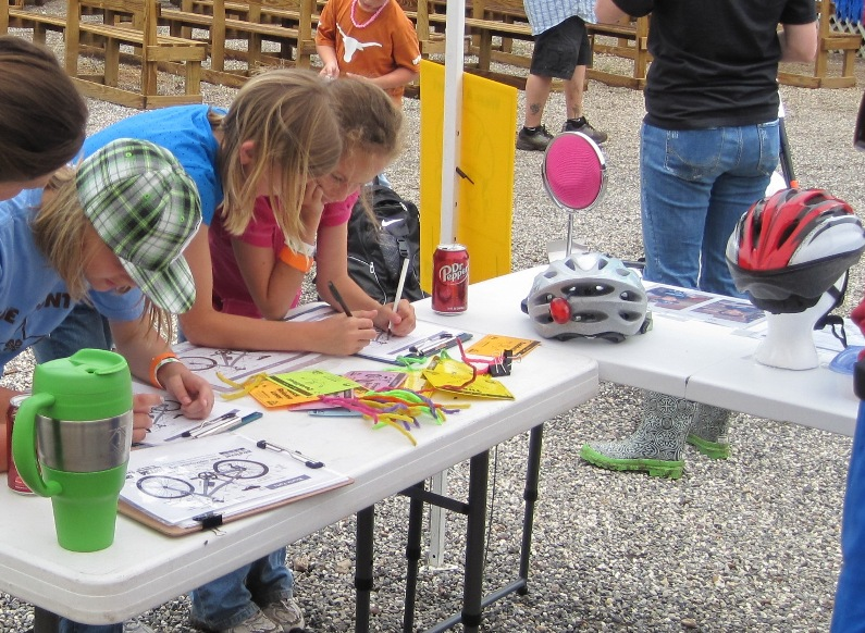 Kids Play New Bicycle Safety Games at Lee County Fair