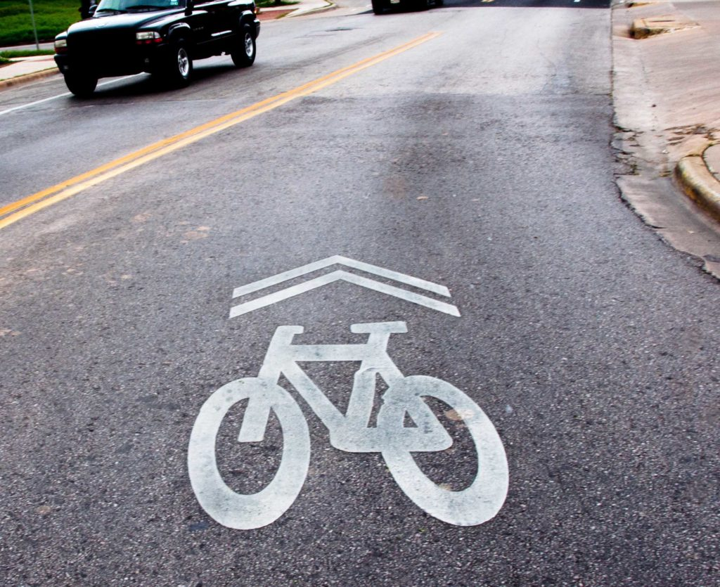 "1.03 Shared Lane Markings ""Sharrows"""