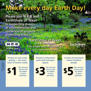 H-E-B Supports EarthShare in Central Texas