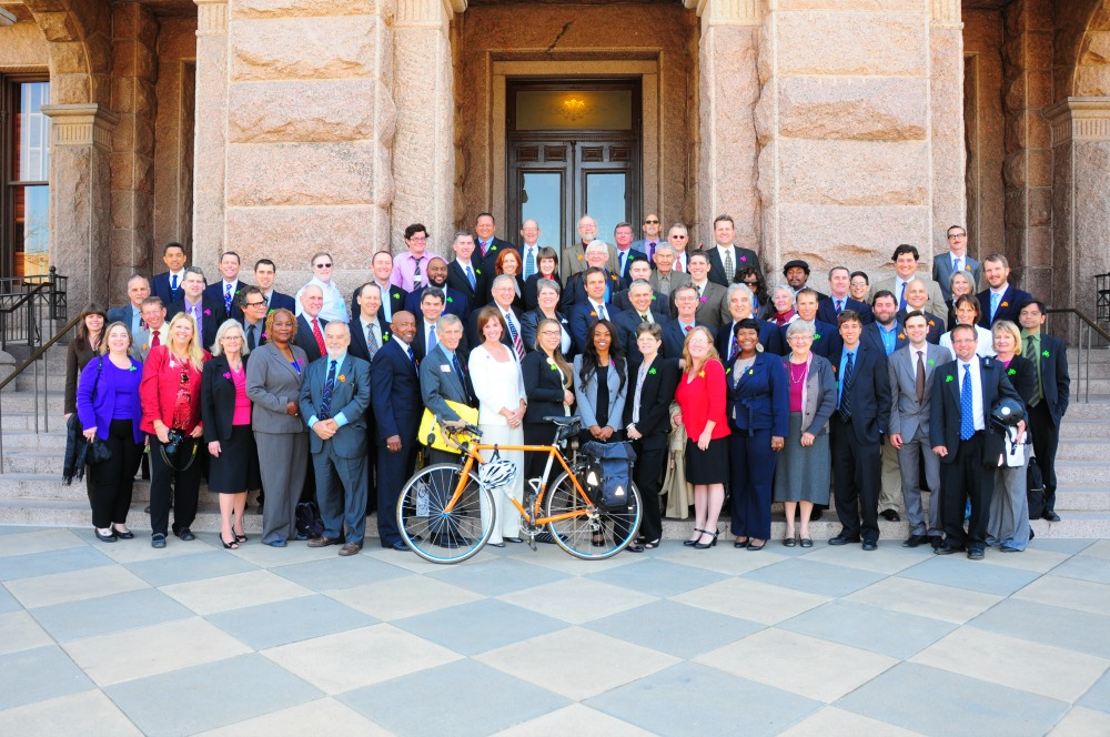 Cyclists in Suits  – Texas' Bike Lobby Day