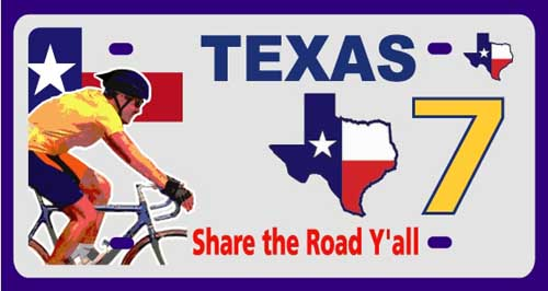 Share the Road Y'all Commemorative License Plates