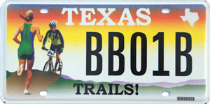 Texas Trails license plate funds the BikeTexas Community Trails Program