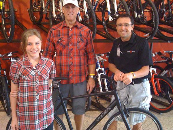 BikeTexas 2011 Bike Giveaway Winner from Pearland, TX receives Trek 7.2FX