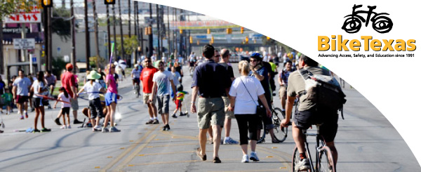 San Antonio: Come meet BikeTexas at the Síclovía this Sunday!