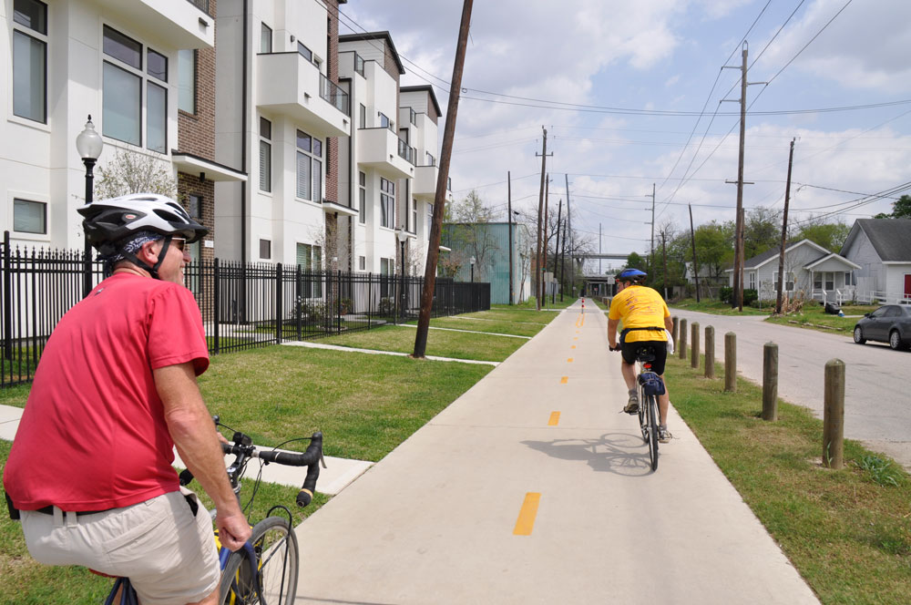 Some great praise for Advocacy efforts in Houston and Denton, from our National Partners Rails to Trails Conservancy