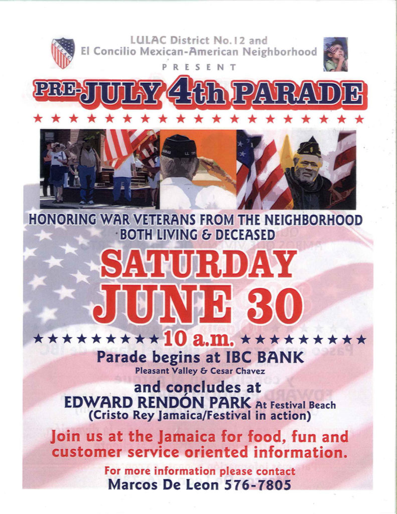 Ride Your Bike in a Pre-July 4th Parade