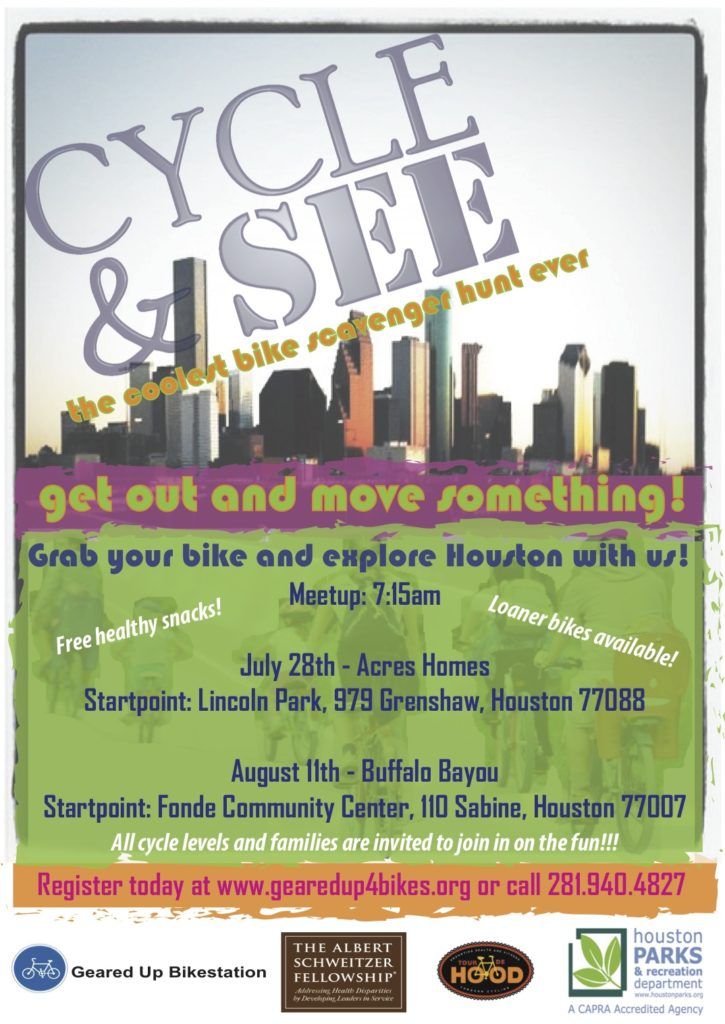 Cycle & See Community Bike Ride with Geared Up Bikestation