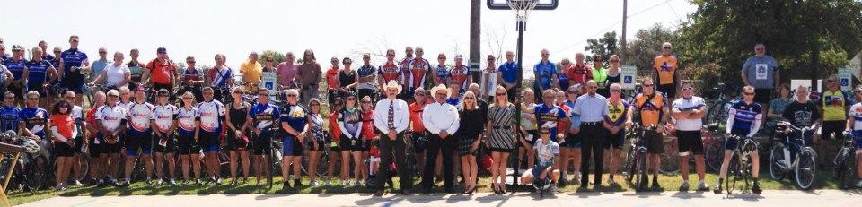 Riders at Iris's Memorial Ride
