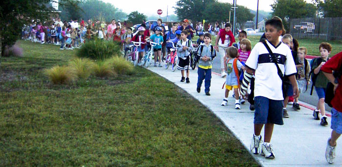 Walk to School Day on October 3