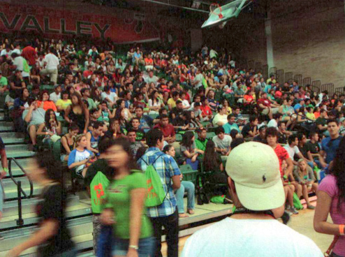 Auditorium fills before Bronc Roundup CATS Presentation, UT Pan Am Edinburg