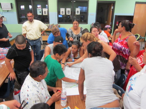 One of many community meetings to discuss a healthier Brownsville. Photo courtesy of Rachel Flores, City of Brownsville.