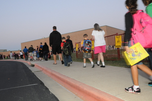 Bike and Walk to School Day at Murchison Elementary