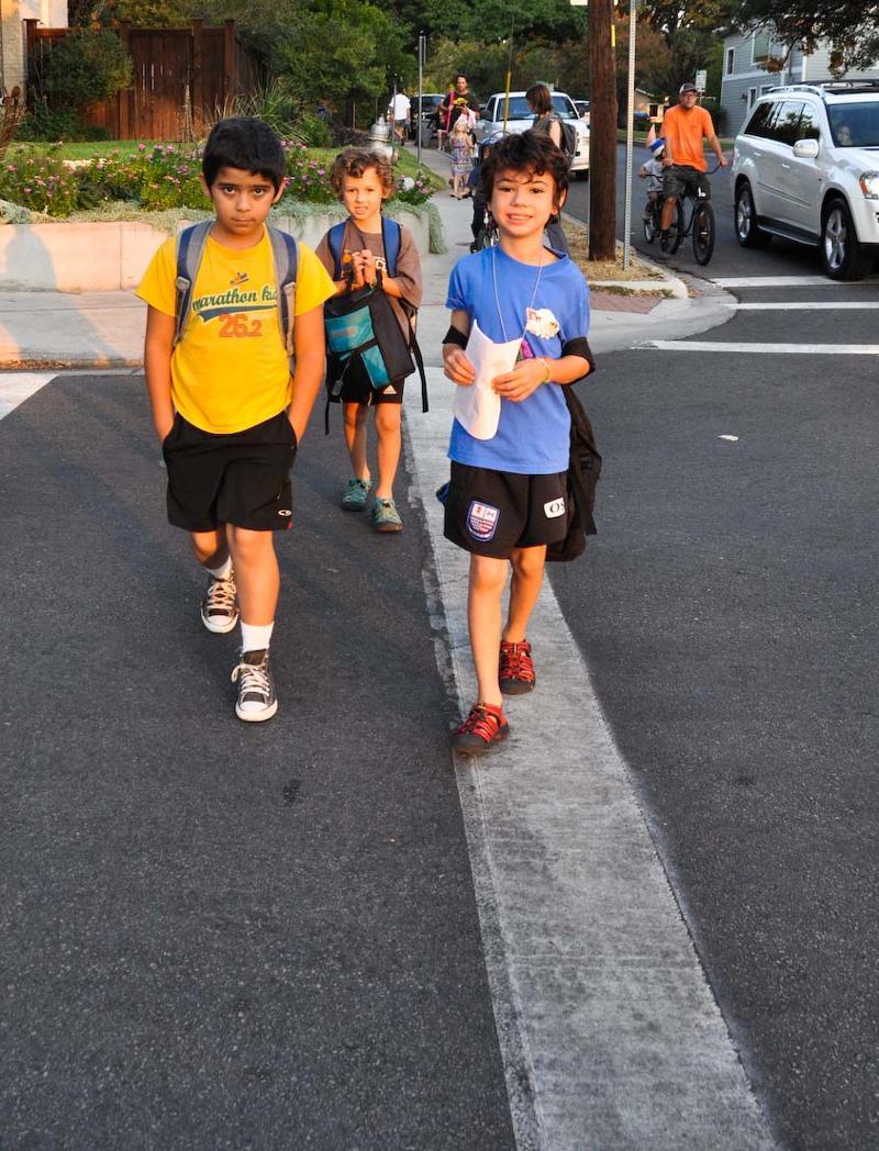 Children headed to school.