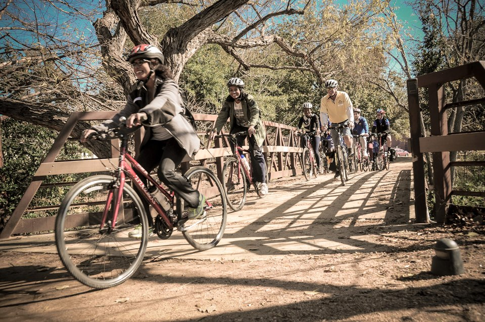 New Legislative Interns Enjoy Bike Ride