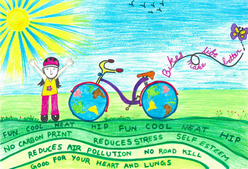 Bikes Make Life Better: Saris Fifth-Grade Poster Contest