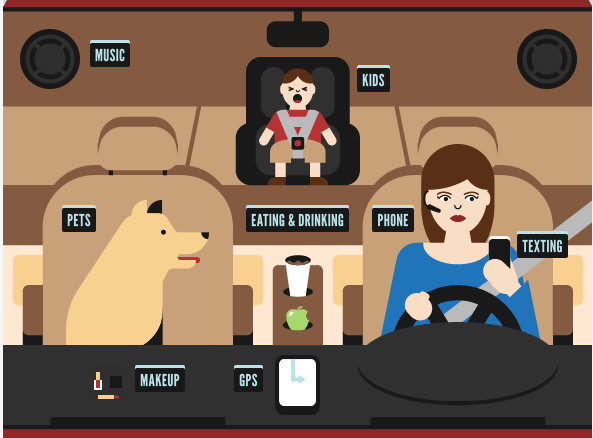Interactive Distracted Driving Site