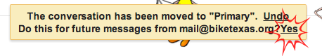 moved message
