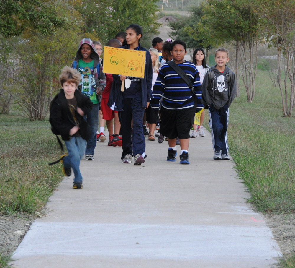 International Walk to School Day is October 9
