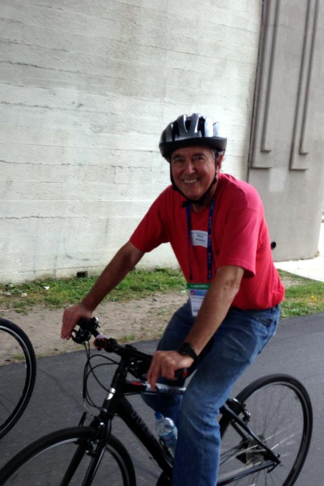 Representative Naishtat Recovering after NCSL Bipartisan Bike Ride Spill