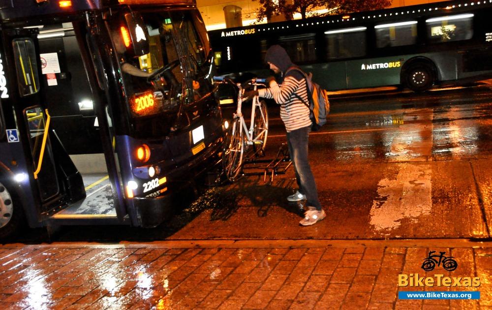 loading a bike on a bus