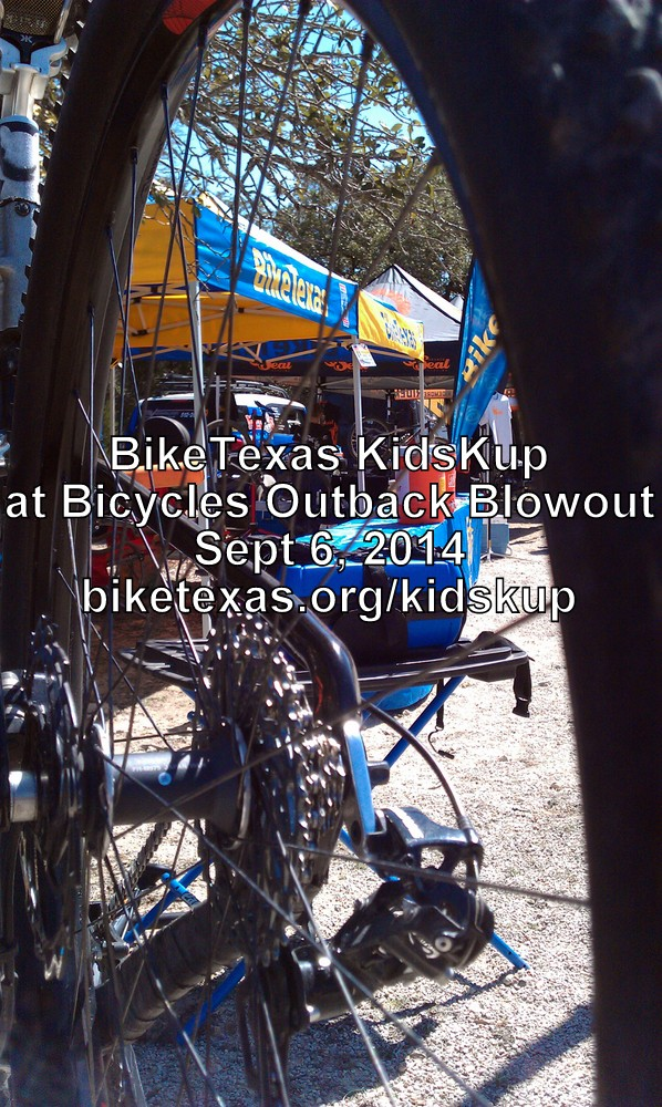 BikeTexas KidsKup at Bicycles Outback Blowout (Waco) 2014