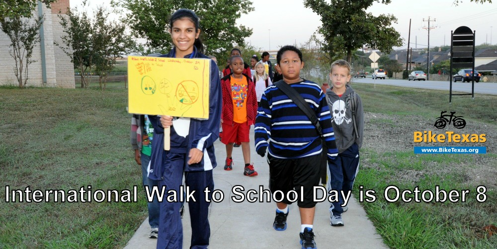 International Walk to School Day is October 8