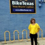haley biketexas intern with sign