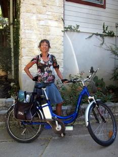 lorn macdougal with bike newsletter