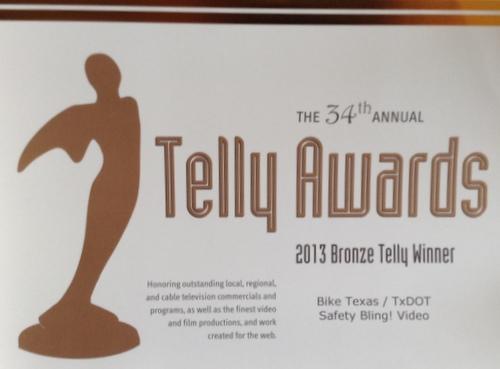 telly award certificate