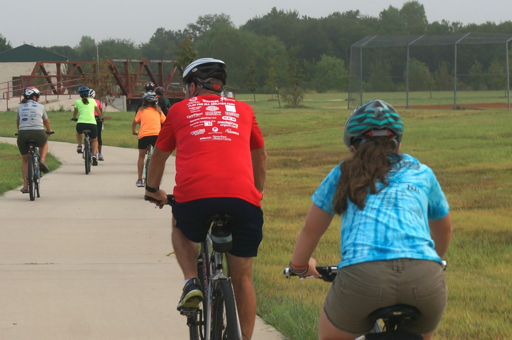 Bike Hutto Celebrates Creekside Park's First Bike Rack with Ribbon Cutting