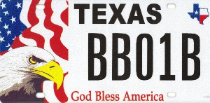 God Bless America Specialty License Plate
