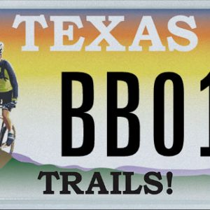 Texas Trails Specialty License Plate