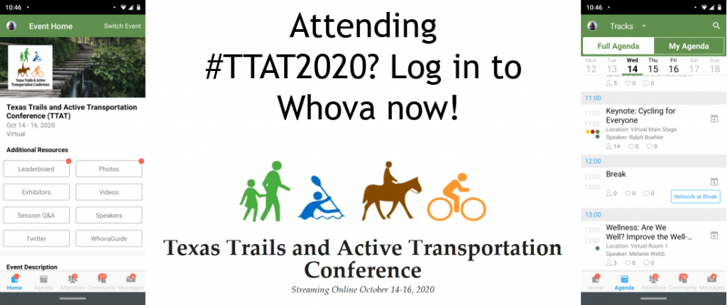 #TTAT2020 Attendees: Log in to Whova Now