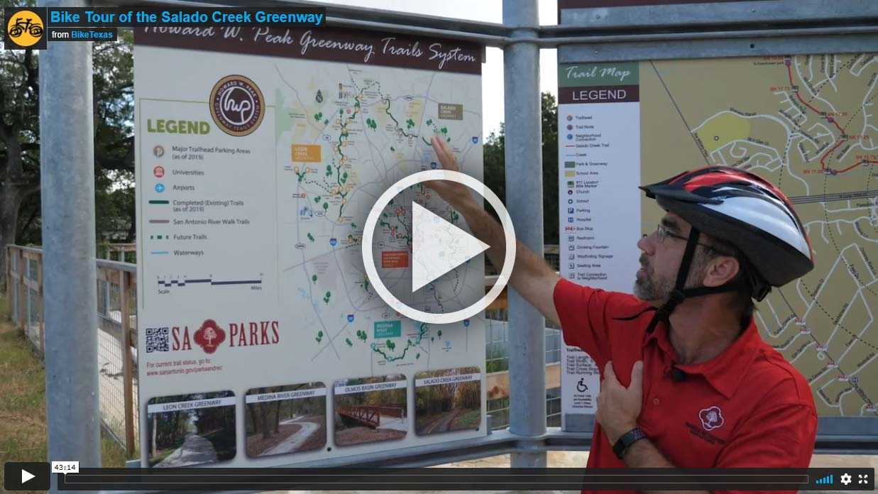 Video - Virtual Mobile Workshop: Bike Tour of the Salado Creek Greenway