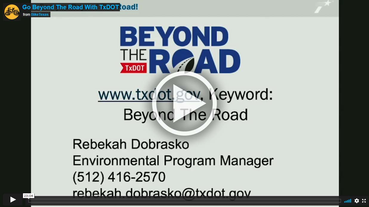 Video - Go Beyond The Road With TxDOT
