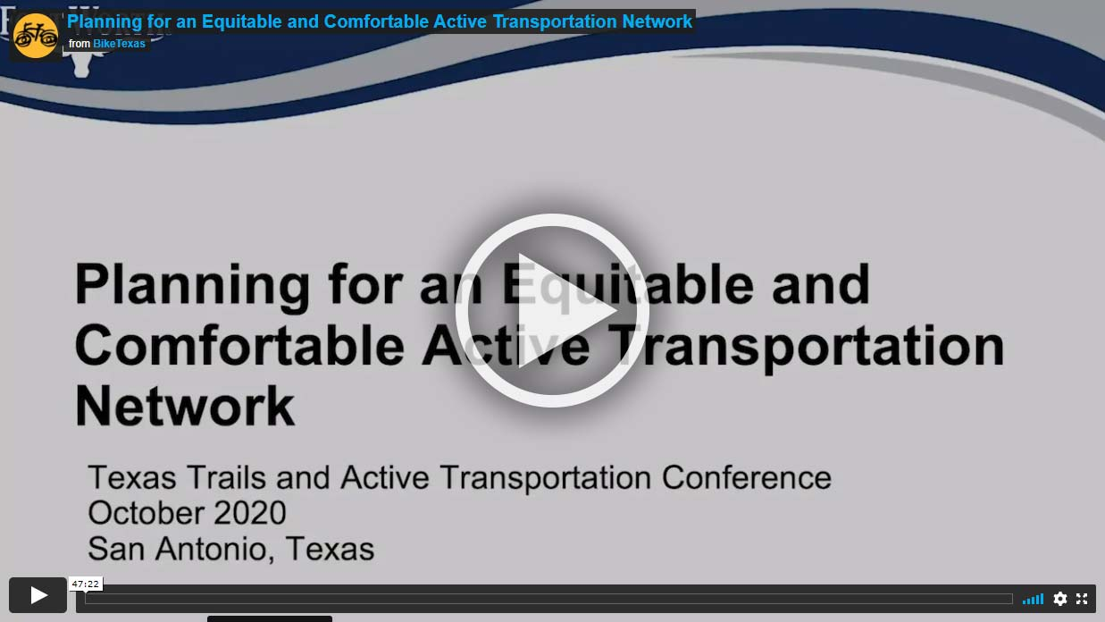 Video - Planning for an Equitable and Comfortable Active Transportation Network