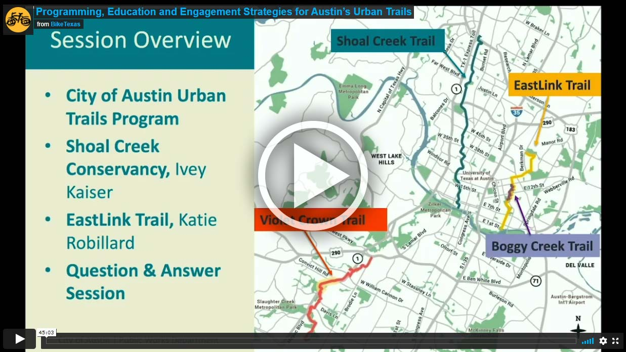 Video - Programming, Education and Engagement Strategies for Austin's Urban Trails