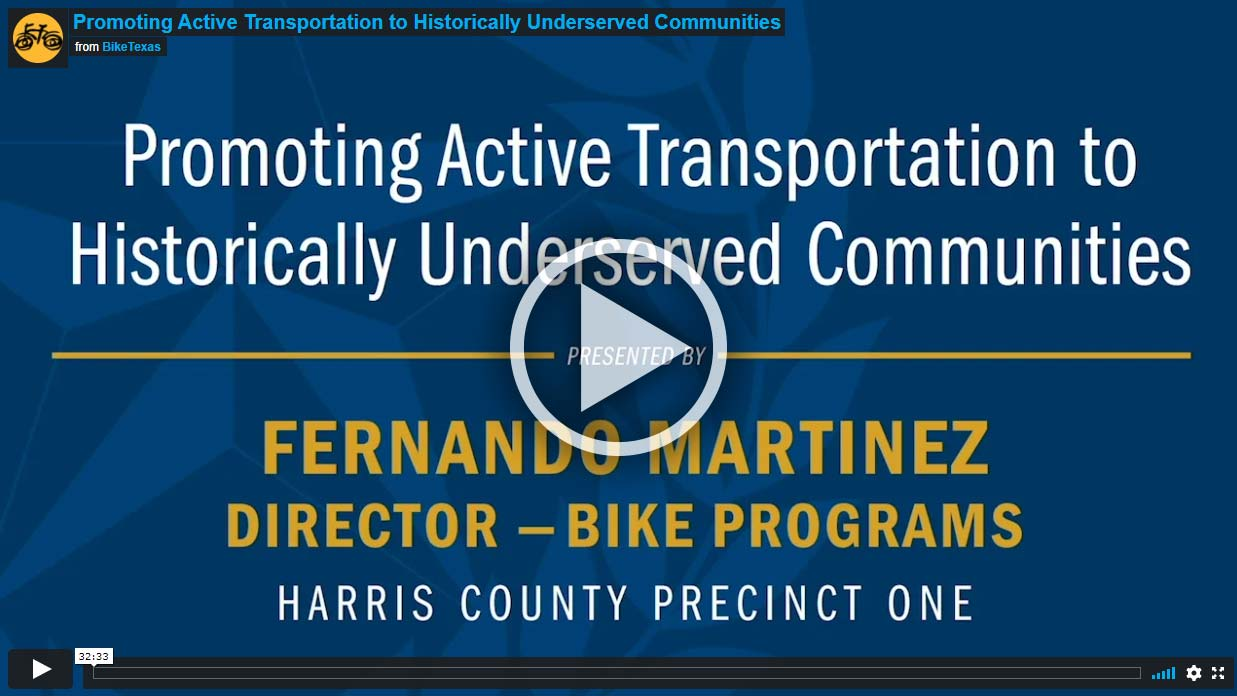 Video - Promoting Active Transportation to Historically Underserved Communities