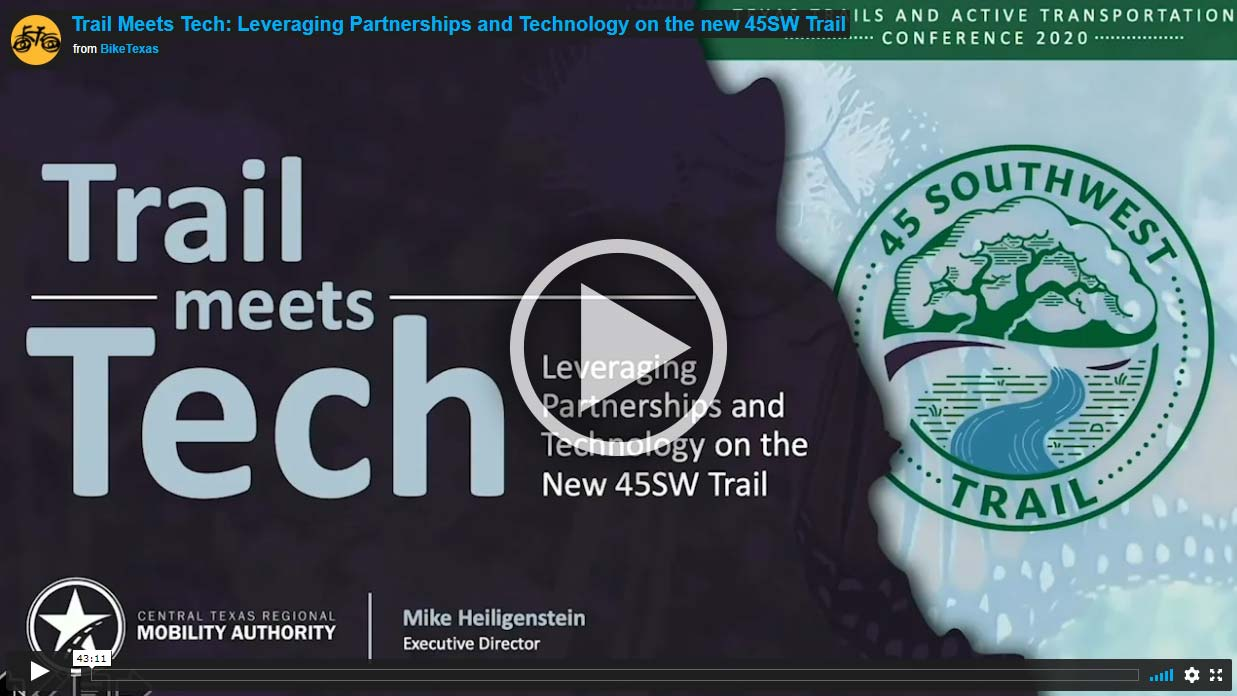 Video - Trail Meets Tech: Leveraging Partnerships and Technology on the new 45SW Trail