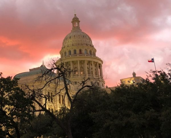 Texas Capitol at sunset