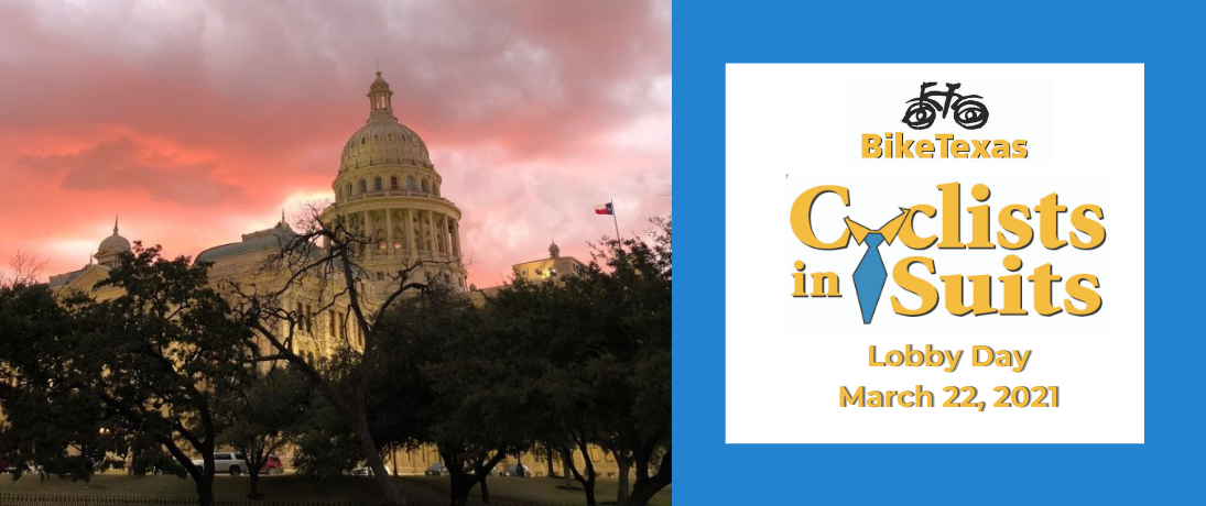 Your Voice Matters: Register Now for Cyclists in Suits, Texas Bike Lobby Day