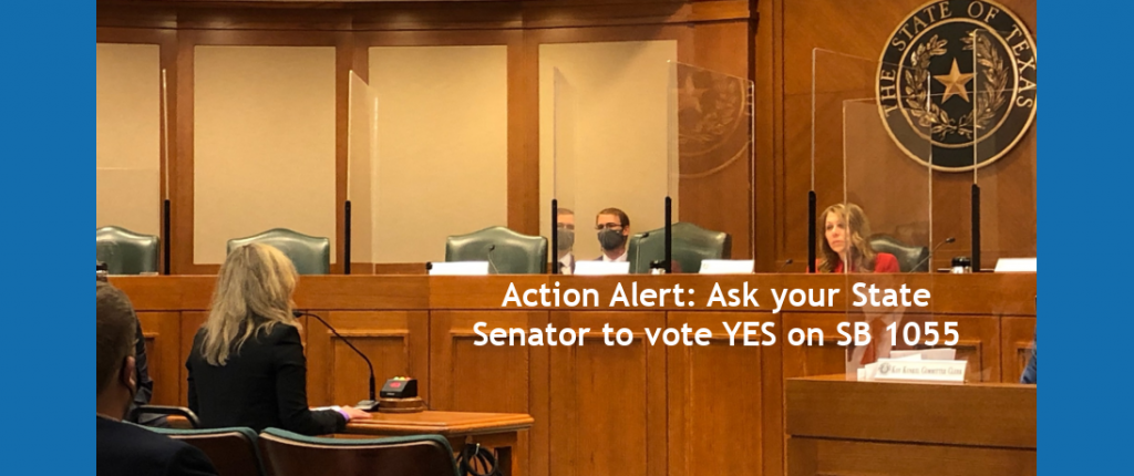 Action Alert: Ask your State Senator to vote YES on SB 1055